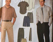 Sewing Pattern Simplicity 9469 Men's Shirts, shorts, Necktie, and Pants Chest 38 - 44 inches Complete UNCUT