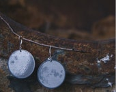 Near and Far Sides of the Moon Earrings