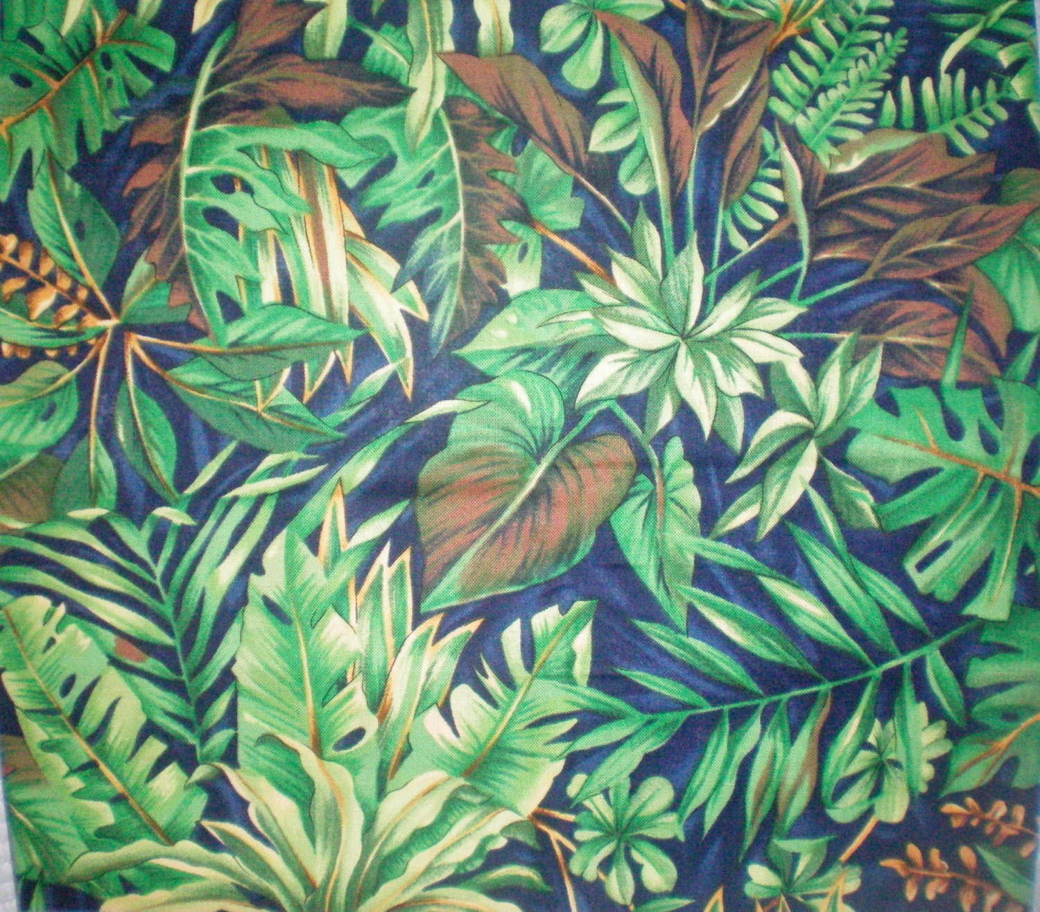 Gorgeous Green Jungle Print Fabric Green Fabric Green Ferns