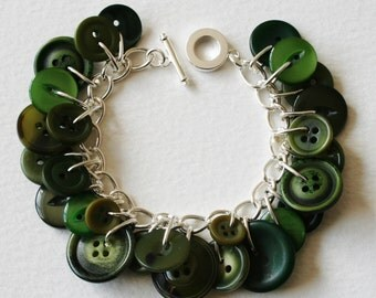 Button Bracelet Moss Green