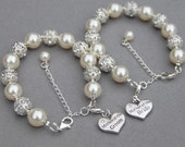 Mother of the Bride Bracelet, Mother of the Groom Bracelet, Mother of Bride Gift, Romantic Wedding, Wedding Mother Gift