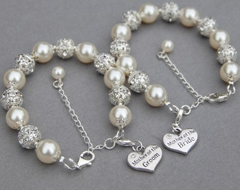 Mother of the Bride Bracelet, Mother of the Groom Bracelet, Mother of the Bride Gift, Mother of the Groom Gift, Wedding Bracelets