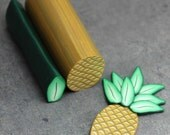 HALF PRICE SALE -Set of 2- Pineapple and Leaf Polymer Clay Canes (sold unassembled)-'Sail Away' (27D)
