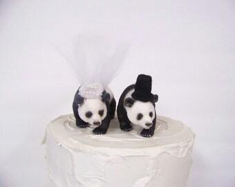 Panda Bear Cake Topper, Bear Wedding Cake Topper, Animal Cake Topper, Woodland Cake Topper, Forest Cake Topper