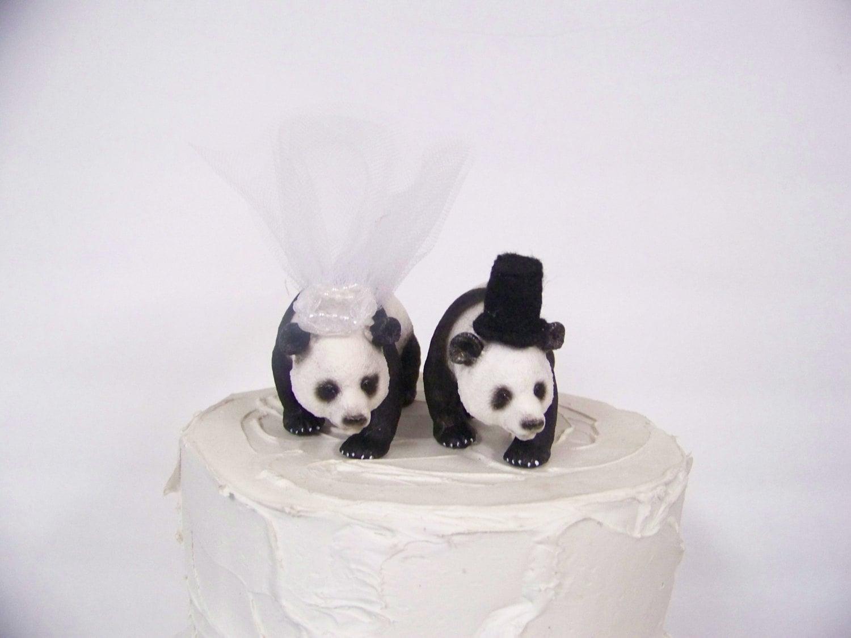 Panda Bear Cake Topper Bear Wedding Cake Topper Animal Cake