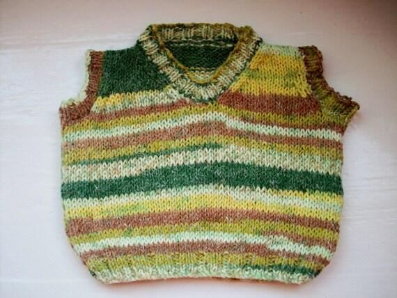 Baby vest, toddler soft knit tank top, slipover, Fair Isle effect ...