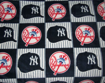 New York Yankees Fleece Throw Blanket Adult Size Navy White Red