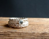 Apatite Ring Stack Ring Jewelry Statement Ring Floral Gemstone Silver Rings December Birthstone