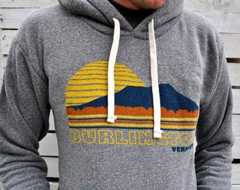Sweatshirt - Burlington Vermont - Vintage Inspired - Fall Fashion - Winter Fashion
