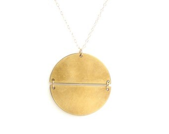 Geometric Split Circle Necklace - Brass, Gold Fill or Sterling Silver
