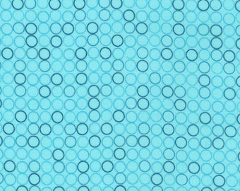 Cotton Fabric, Christmas Fabric, Spot On Fabric by Robert Kaufman and Fabric Shoppe Fabrics- Spot On Circles in Aqua, Fabric By The Yard
