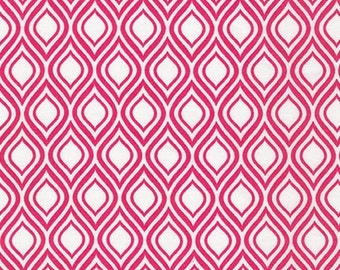 Sale Fabric, Pink fabric, Girl fabric, Metro Living fabric by Robert Kaufman- Mod Stencil Fuchsia- Choose The Cut. Free Shipping Available