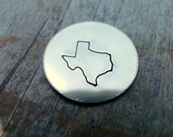 """BIG DESIGN STAMP - State of Texas - 1/2"""" stamp - includes how to stamp on metal tutorial"""