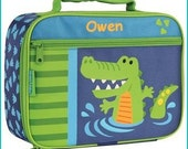 Personalized Alligator Animal, Lunchbox, School, Lunch Sac, Personalized Lunchbox, Kids Lunchbox, Lunch Box, Lunch Pal,