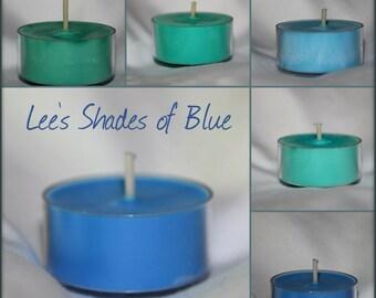 Lee's Shades of Blue Tea Lights