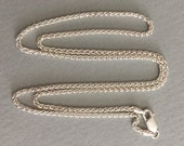 "24"" STERLING SILVER Chain 2.6mm Spiga Wheat chain"