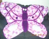 Butterfly Critter Rag Blanket