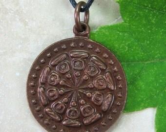 Copper Thai Buddha Amulet