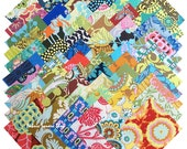 """Amy Butler Assortment Precut 5"""" Fabric Quilting Cotton Squares Charm Pack Free Spirit"""