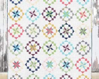 V and Co. KALEIDOSCOPE Quilt Pattern Quilting Sewing Fabric