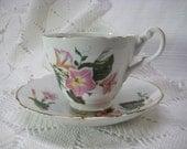 Fine Bone China Tea Cup and Saucer--Morning Glory-SALE