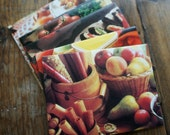 Fabulous 70s - recycled vintage cookbook pages Envelope and Card set