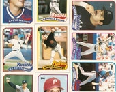 """132 Old Vintage 1989 Topps Baseball PICTURE Cards """"TRADED"""" SERIES"""