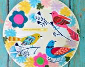 Home is Where the Heart is -- Vintage Plate Art