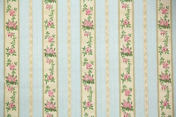 20er jahre vintage tapete antike floral streifen mit for Vintage tapete