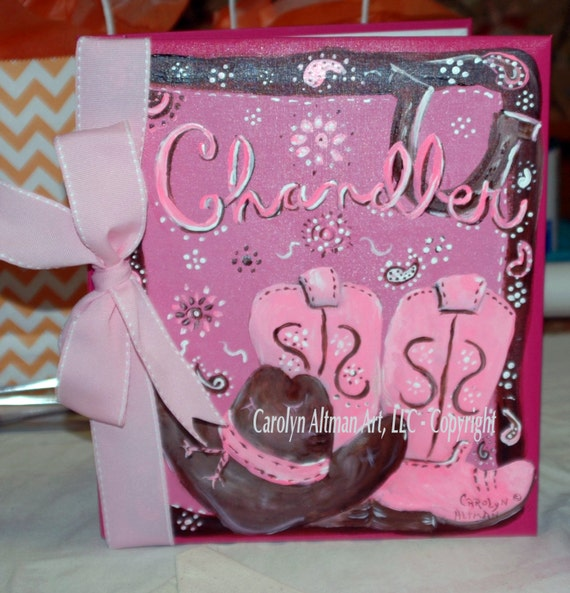 Cowgirl Up Baby Memory Book