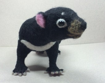 Needle Felted Tasmanian Devil by Shelly Schwartz