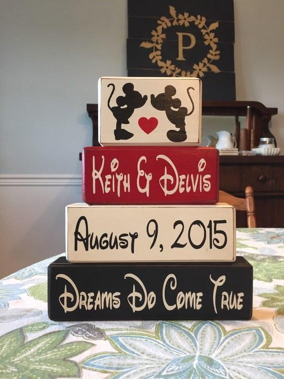 Wedding Gift Ideas Disney : Mickey and minnie wedding gift anniversary gift by AppleJackDesign