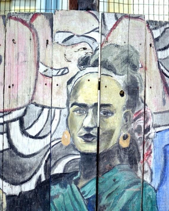 "Frida Kahlo Poster - Fine Art Photography - Graffiti Art - Street Art - Pastel Decor - Frida Print - Large Wall Art Print ""Frida"""
