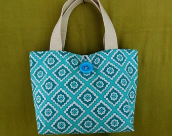 Placemat Purse - Turquoise, handmade OOAK