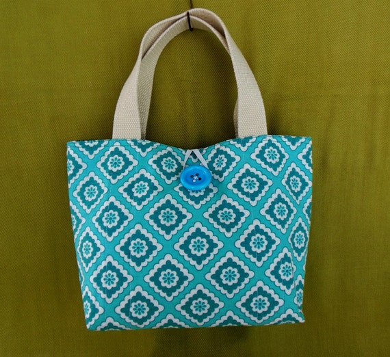 Placemat Purse Turquoise handmade OOAK by nitebyrd on Etsy
