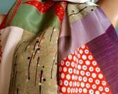 Vintage Kimono Silk Scarf OOAK - Margy