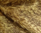 """Schulte Mohair 1 5/8"""" Tan w/Brown Tips 1/4y"""