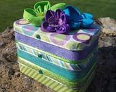 Altered Altoid Three Tins Treasure Keepsake Jewelry Box Purple Turquoise Green Gift