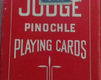 Deck of Vintage Judge Pinochle Playing Cards  with Tax Stamp
