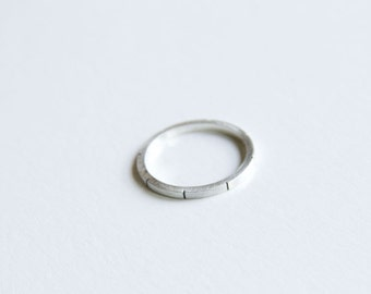 Sterling silver skinny stackable ring, single stacking band