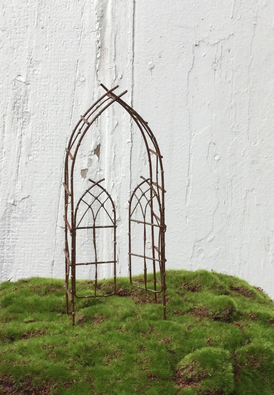 Miniature Garden Arbor Trellis Fairy Garden Arbor