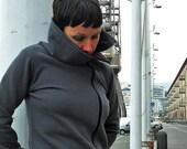 womens sweatshirt in cotton,zip up sweatshirt, sweatshirt handmade