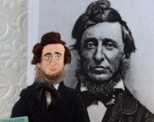 Henry David Thoreau Doll Miniature Author of Walden Art Collectible