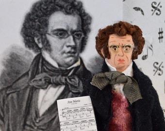 Franz Schubert Doll Miniature Austrian Composer and Musician