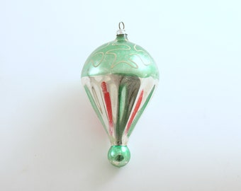 Vintage Christmas Ornament Glass Ornament Hot Air Balloon West Germany