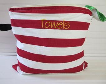 Large Wet Bag - Wet Bag Large - Swim Suit Bag - Beach Wet Bag - Wet Bikini Bag - Wet Bathing Suit Bag - Monogram Wet Bag