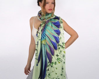Kimono Wrap, Floral Scarf, Beach Cover Up, Wrap Scarf, Bridesmaid Gift, Printed Scarf, Tropical Scarf, Beach Wrap Sarong