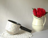 Vintage Sifter Flour Sifter Androck Sifter Red Star Pattern Rustic Kitchen Retro Farmhouse