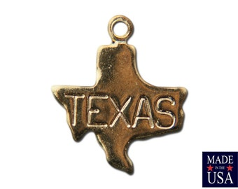 Gold Plated Tiny Texas State Charm Drops (6) chr223A