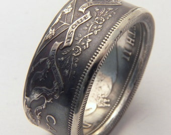 Canada Silver coin ring year 1965 you pick size 9 to 13 unique gift